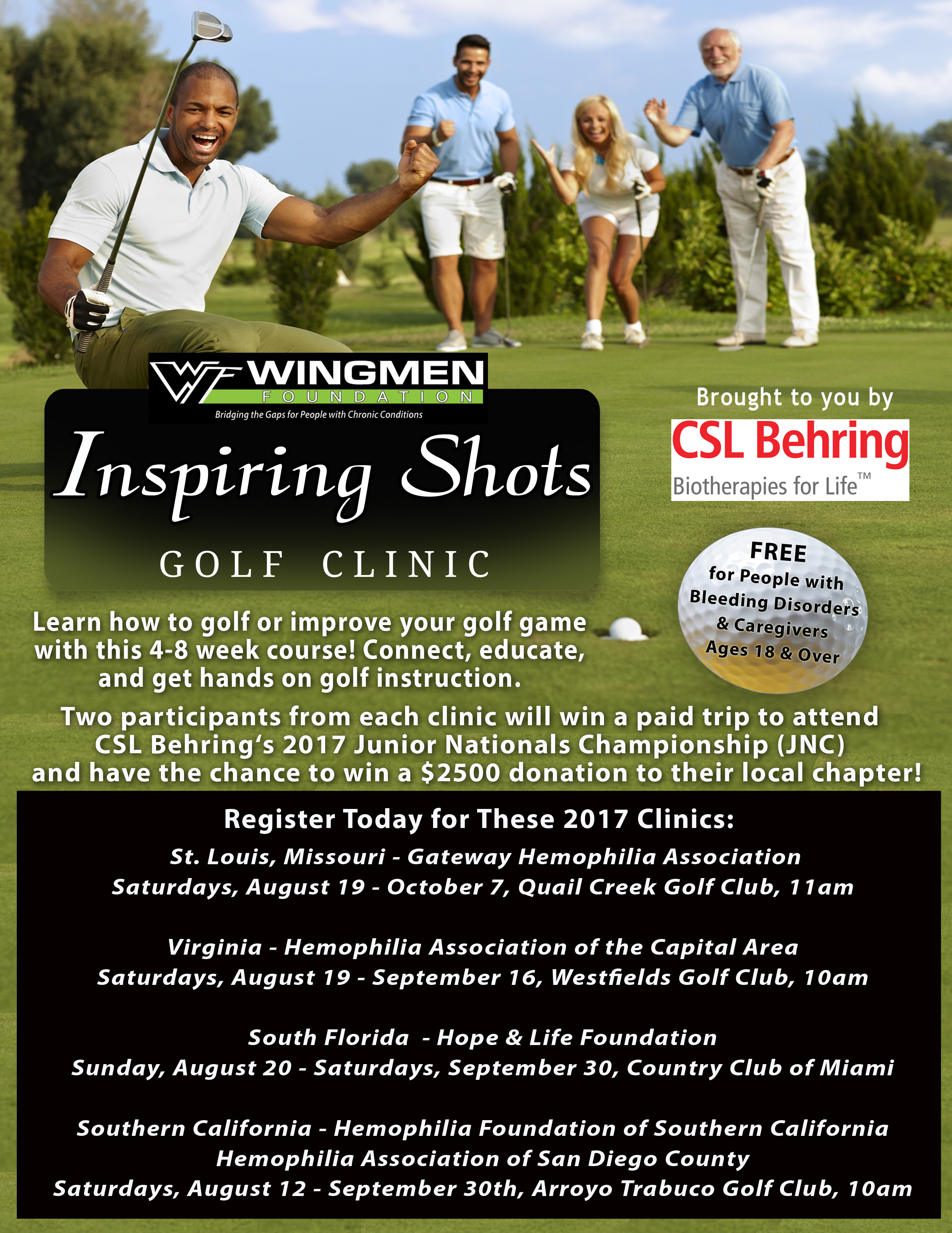 WF CSL 2017 Inspiring Shots Golf Clinic Main